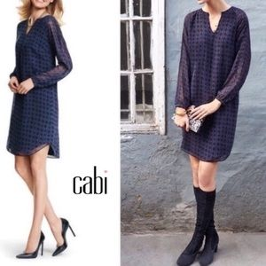 CAbi | Dress Harlequin Long Sleeve Blue #3102 Sm